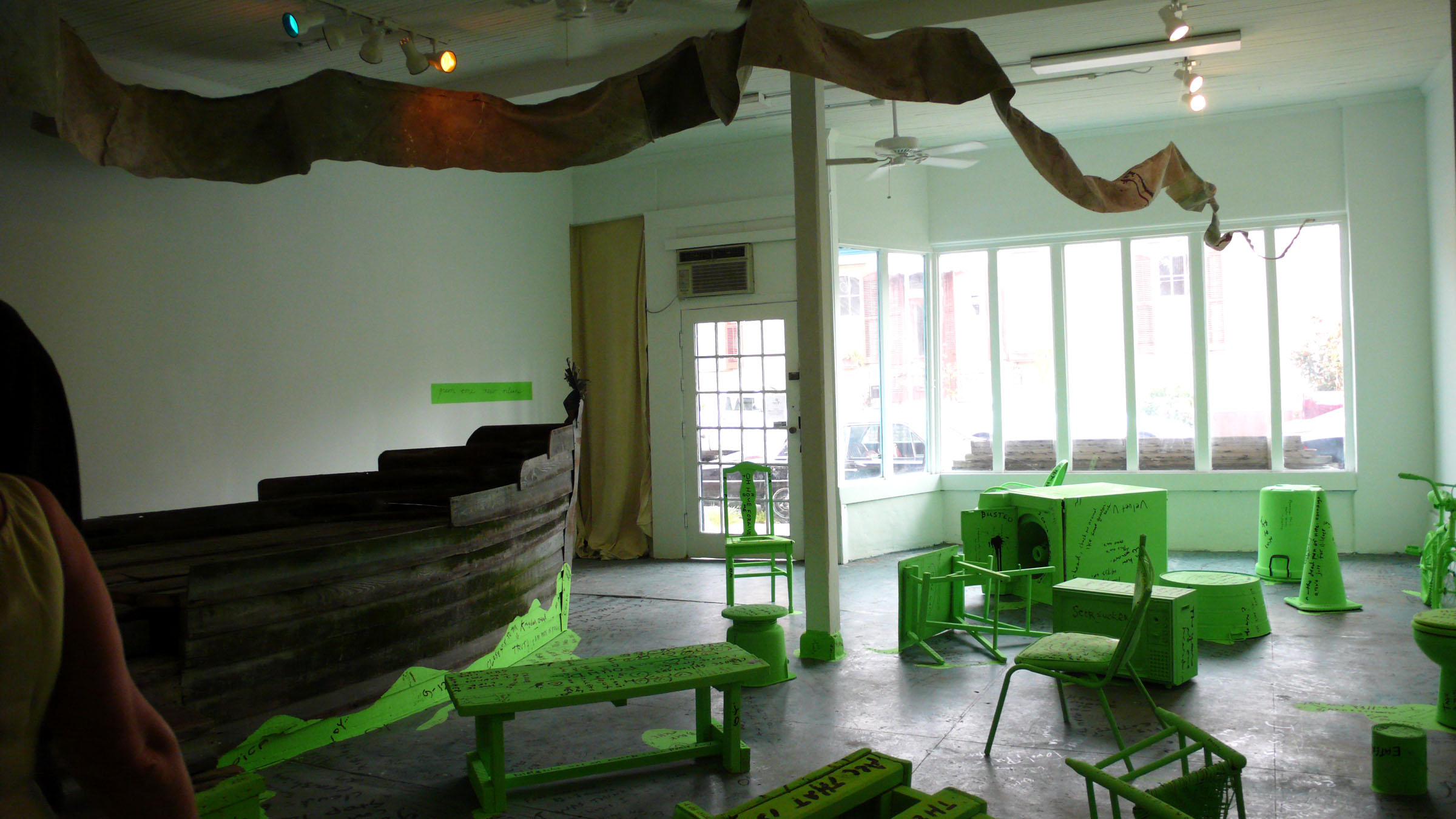 Green Zone New Orleans exhibition in 2009 at the original home of Antenna, 3161 Burgundy St.