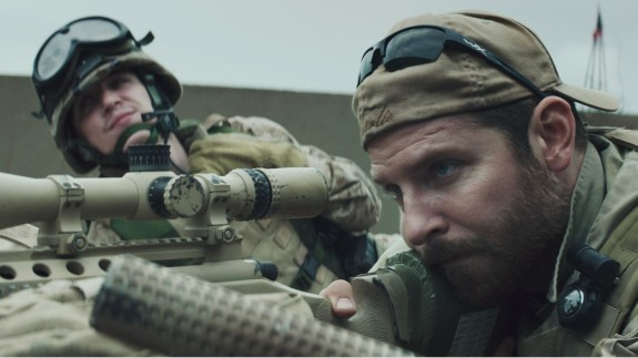 """War disassembles everything we do. It retards our progress in every way, and we still assign value to it, as if it accomplishes something. We don't want to acknowledge that nothing productive is happening in a war. Like American Sniper acts like the productive thing we're doing is shooting people in the face."" (Image: Still from American Sniper)"