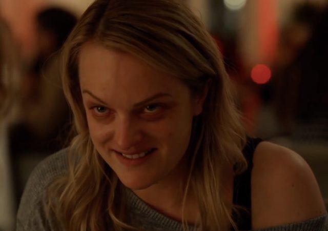 Elisabeth Moss Making A Goofy Sinister Face